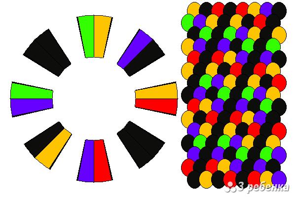 Схема фенечки кумихимо 33128