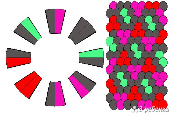Схема фенечки кумихимо 33124
