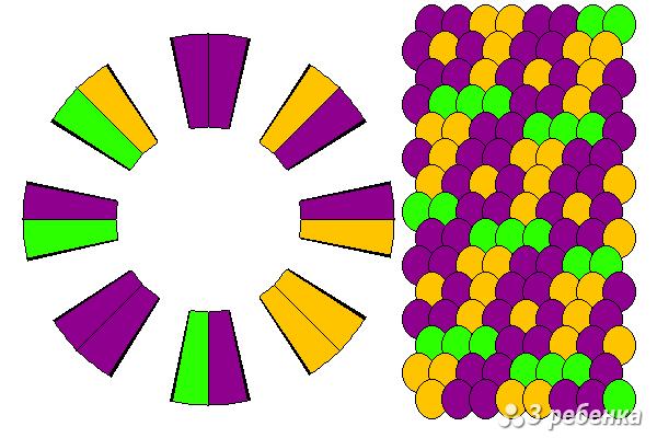 Схема фенечки кумихимо 33120