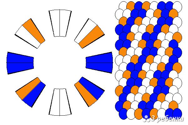 Схема фенечки кумихимо 33116