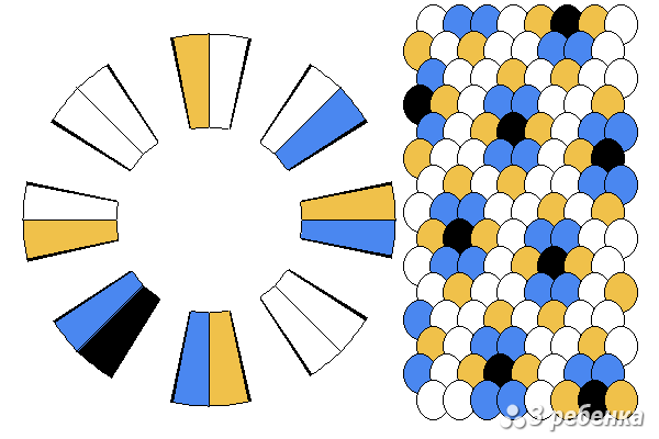 Схема фенечки кумихимо 33112