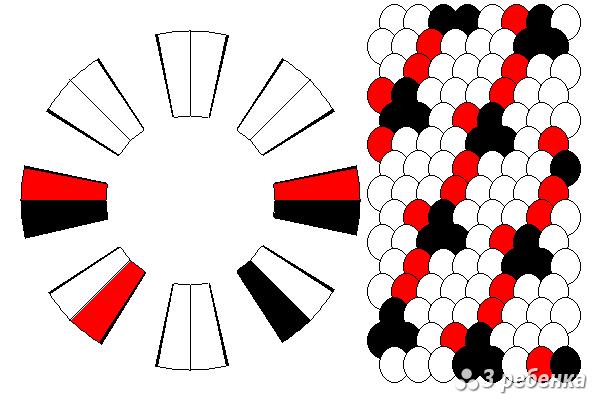 Схема фенечки кумихимо 33104