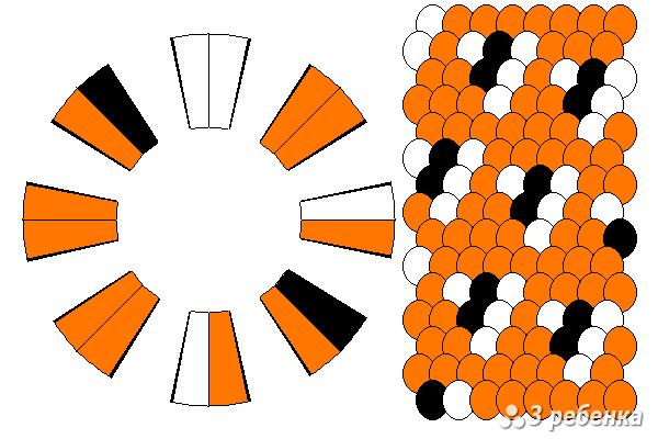 Схема фенечки кумихимо 33099