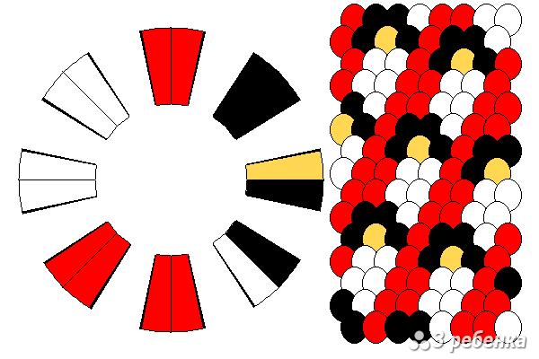 Схема фенечки кумихимо 33091