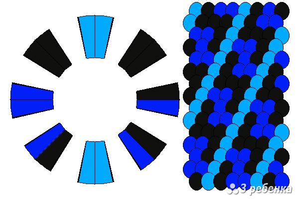 Схема фенечки кумихимо 33087