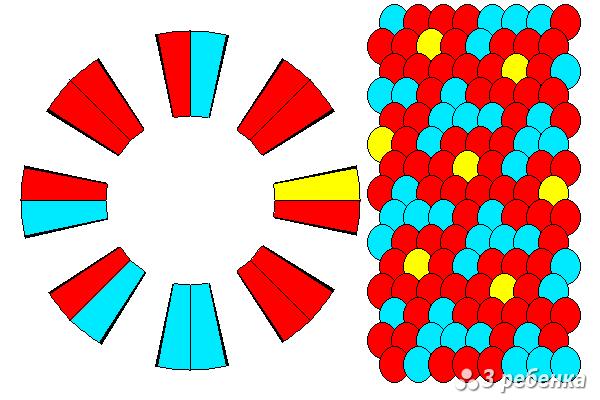 Схема фенечки кумихимо 33083