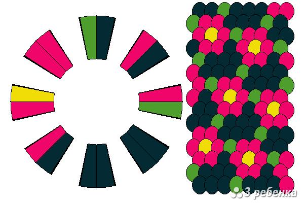 Схема фенечки кумихимо 33079