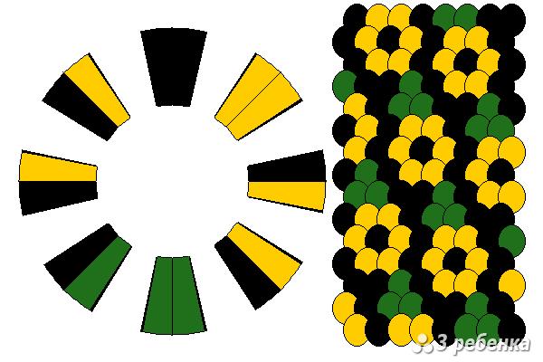 Схема фенечки кумихимо 33075