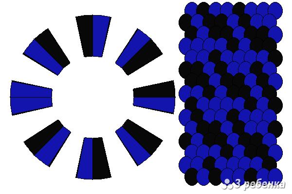 Схема фенечки кумихимо 33071