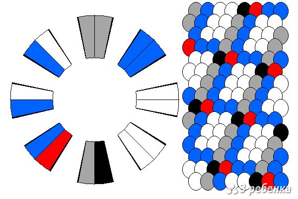 Схема фенечки кумихимо 33063