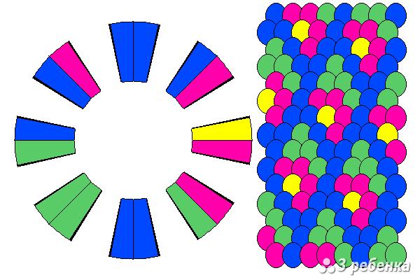 Схема фенечки кумихимо 33059