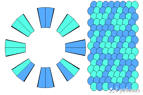 Схема фенечки кумихимо 33055