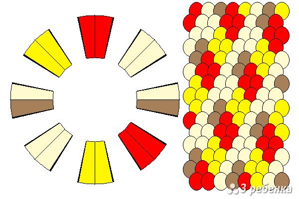 Схема фенечки кумихимо 33051