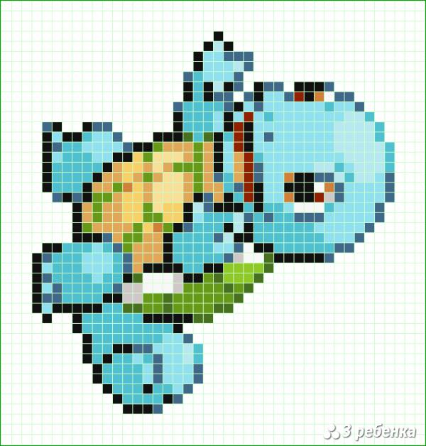 Схема фенечки прямым плетением 32998