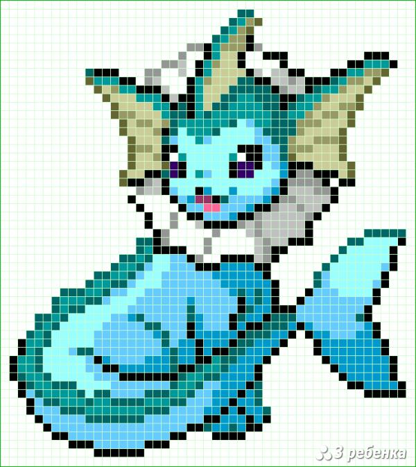 Схема фенечки прямым плетением 33008