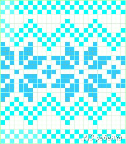 Схема фенечки прямым плетением 33013