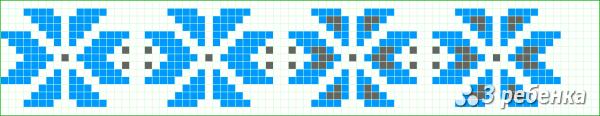 Схема фенечки прямым плетением 33024