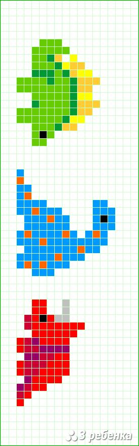 Схема фенечки прямым плетением 33018