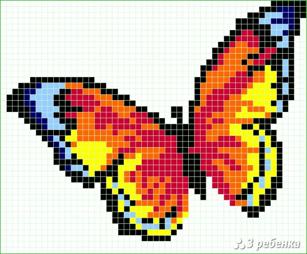 Схема фенечки прямым плетением 33003