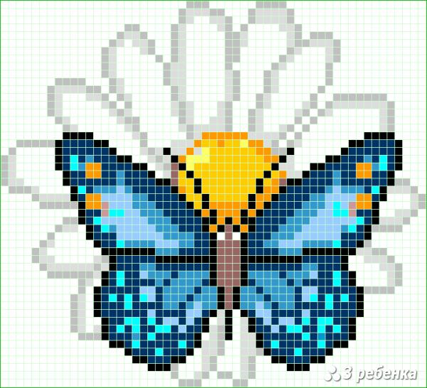 Схема фенечки прямым плетением 33040