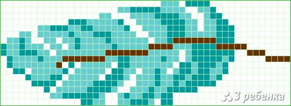 Схема фенечки прямым плетением 33045