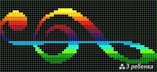 Схема фенечки прямым плетением 32961