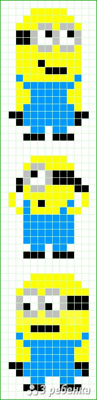 Схема фенечки прямым плетением 32992