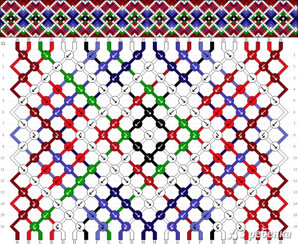 Схема фенечки 33222