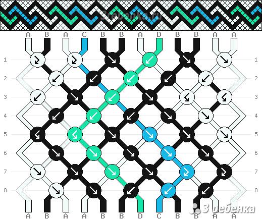 Схема фенечки 33228