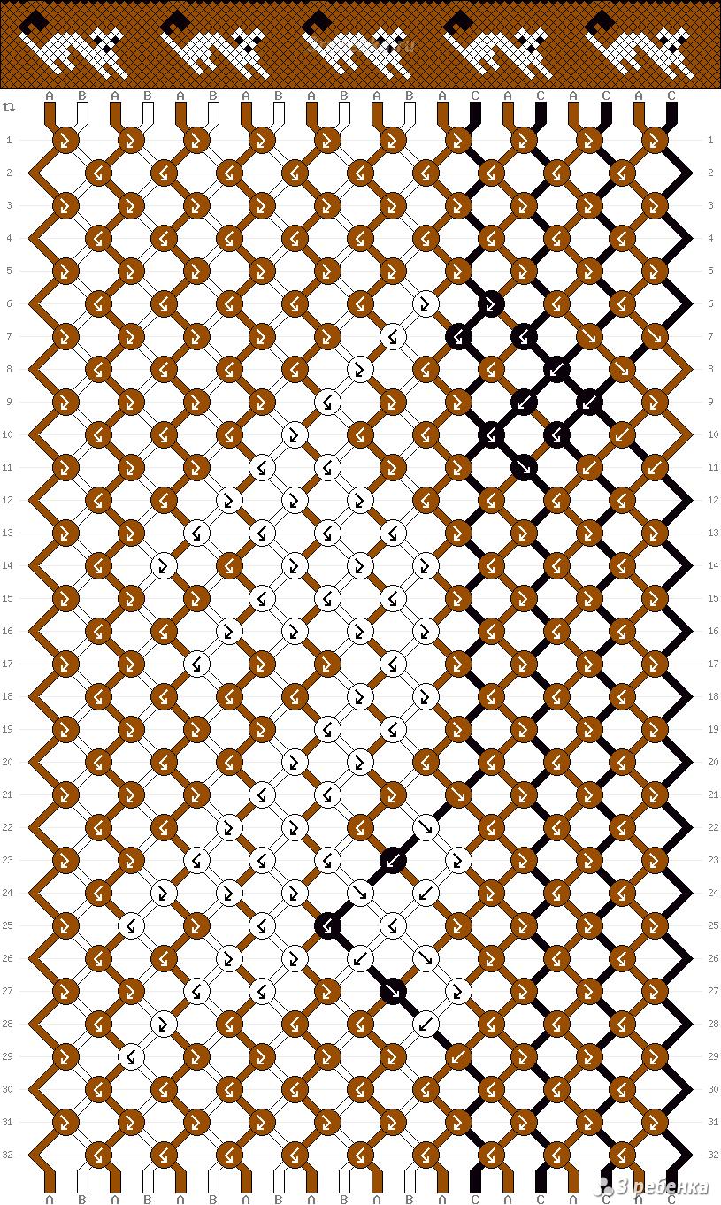 фенечки из мулине с именем(схема)