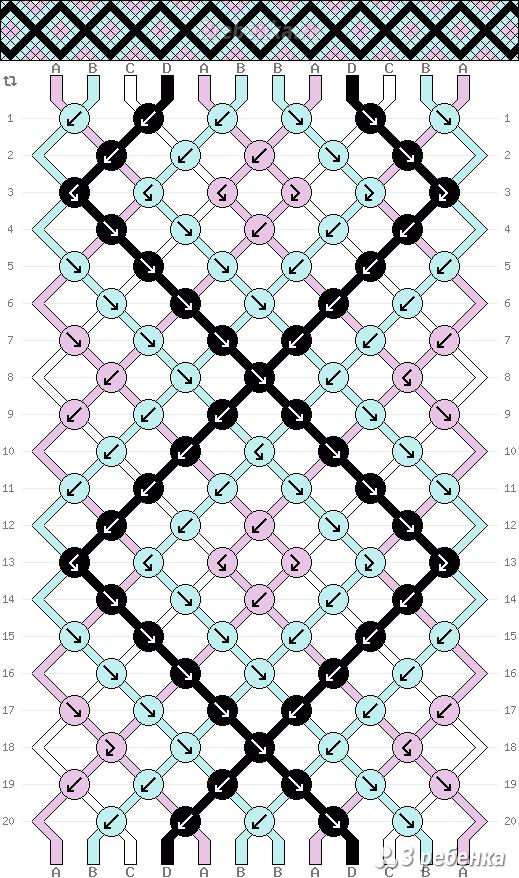 Схема фенечки 33257