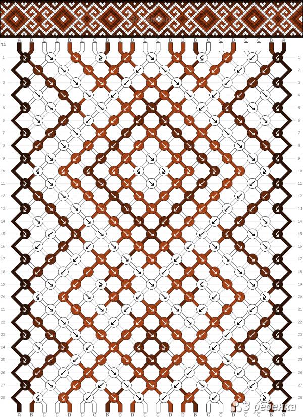 Схема фенечки 33274