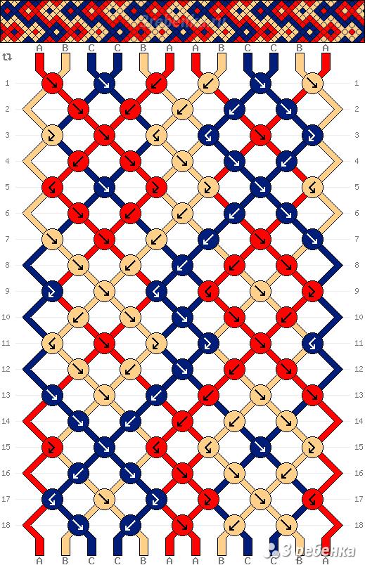 Схема фенечки 33307