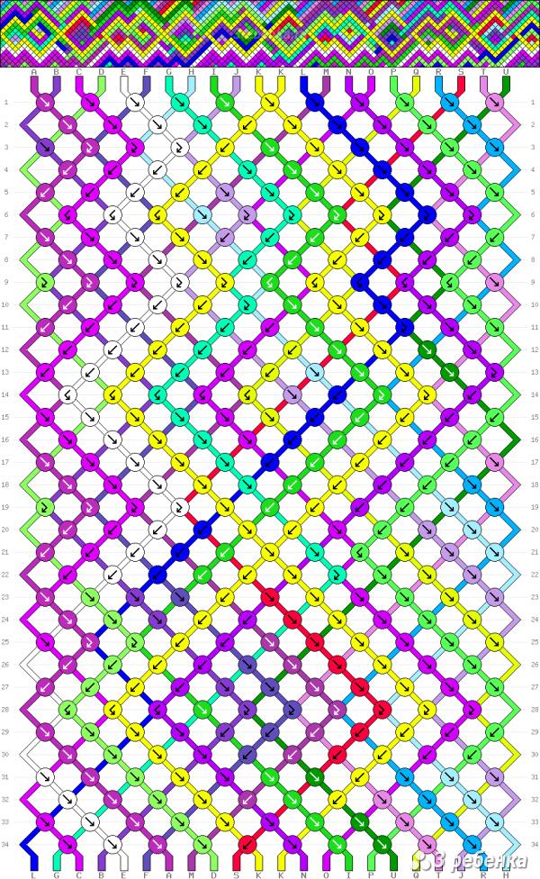 Схема фенечки 33322