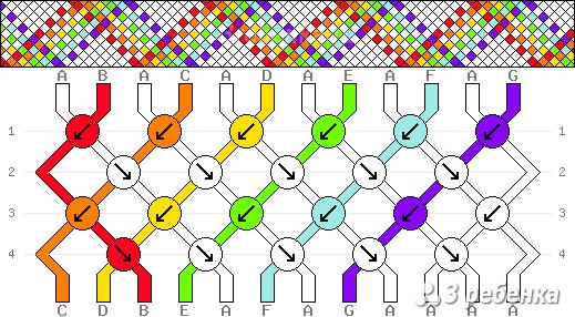 Схема фенечки 33368