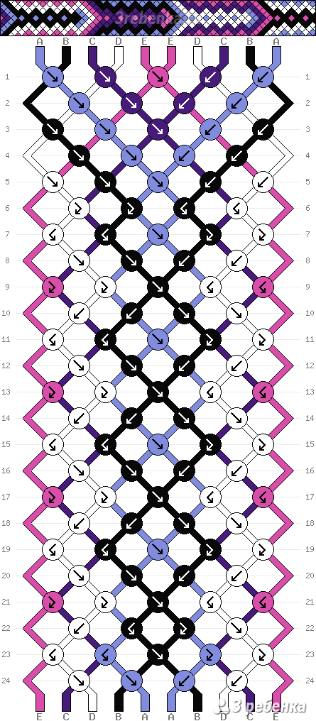 Схема фенечки 33448