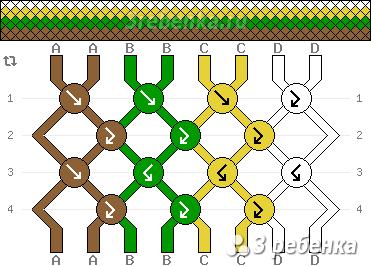 Схема фенечки 33524