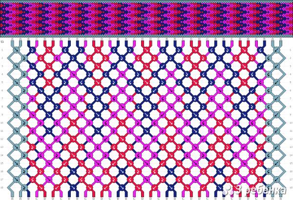 Схема фенечки 33531
