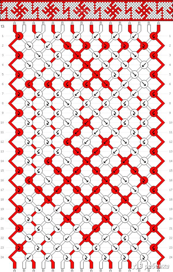 Схема фенечки 33546