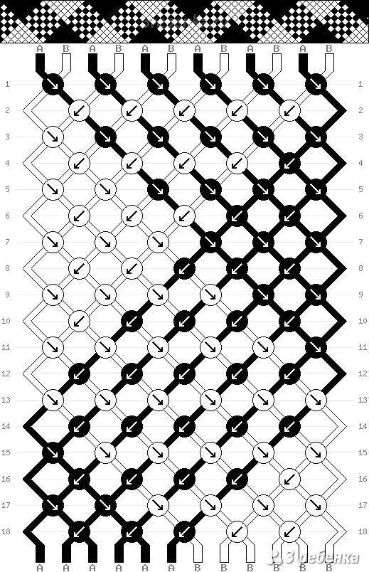 Схема фенечки 33617