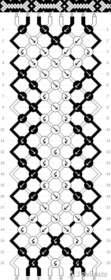 Схема фенечки 33645