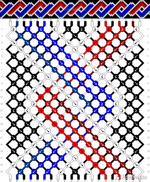 Схема фенечки 33652