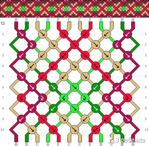 Схема фенечки 33752