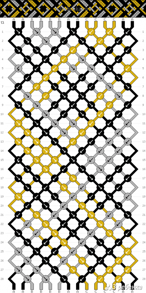 Схема фенечки 33806