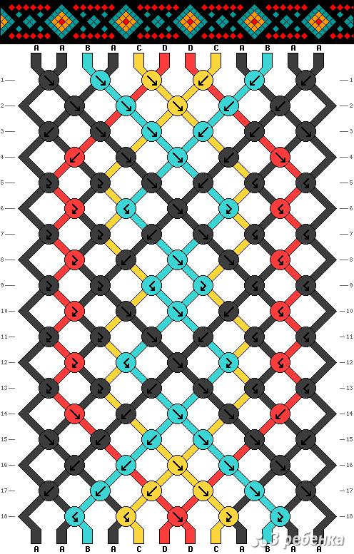 Схема фенечки 33851
