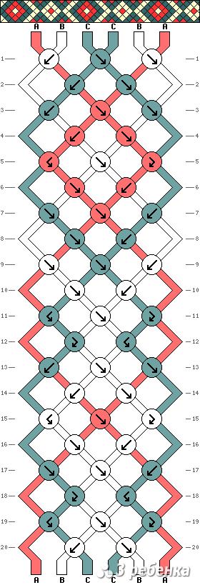 Схема фенечки 33817