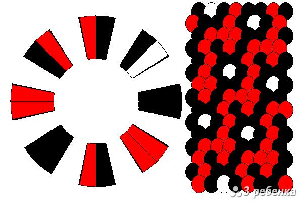Схема фенечки кумихимо 34261