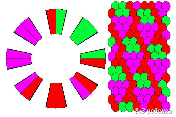 Схема фенечки кумихимо 34300