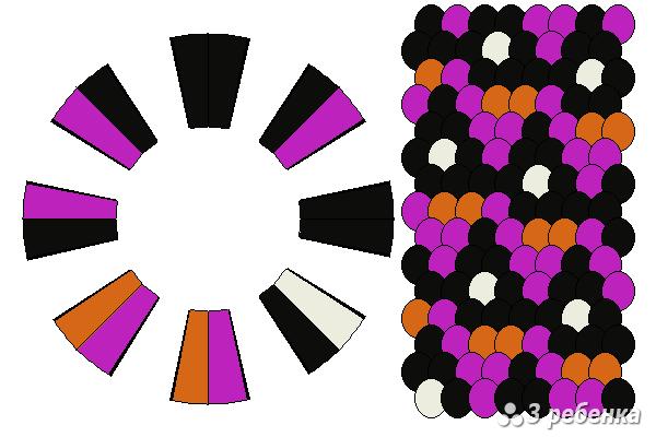 Схема фенечки кумихимо 34249