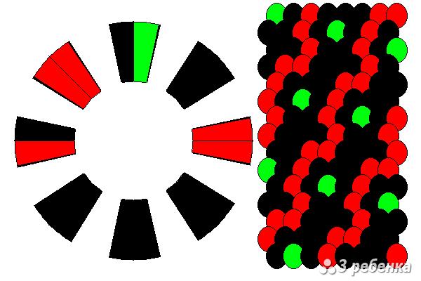 Схема фенечки кумихимо 34257